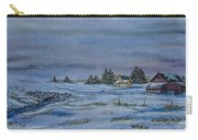 Over The Bridge And Through The Snow Carry-all Pouch by Charlotte Blanchard