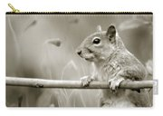 Over The Fence In Black And White Carry-all Pouch