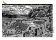 Over The Rooftops At Portree In Greyscale 2 Carry-all Pouch