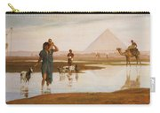 Overflow Of The Nile Carry-all Pouch by Frederick Goodall
