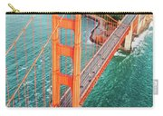 Overhead Aerial Of Golden Gate Bridge, San Francisco, Usa Carry-all Pouch