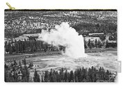 Overhead View Of Old Faithful Erupting. Carry-all Pouch