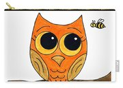 Owl And Bee Carry-all Pouch