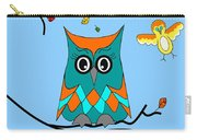 Owl And Birds - Whimsical Carry-all Pouch