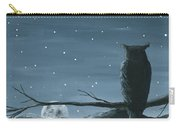 Owl And The Moon Carry-all Pouch