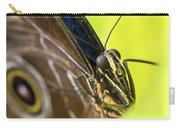 Owl Butterfly In Yellow Flower Carry-all Pouch