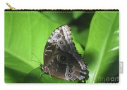 Owl Butterfly On A Cluster Of Green Leaves Carry-all Pouch