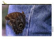 Owl Butterfly On Jeans Carry-all Pouch