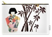 Owl In Bamboo By Mary Ellen Palmeri Carry-all Pouch