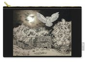 Owl In The Moonlight On Brush Mountain Carry-all Pouch