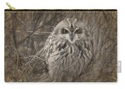 Owl In The Woods Carry-all Pouch