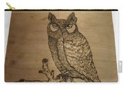 Owl Pyrography Carry-all Pouch
