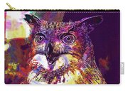 Owl The Female Eagle Owl Bird  Carry-all Pouch