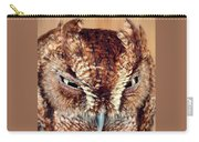 Owl Who? -brown Owl Carry-all Pouch