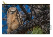 Owlet In A Fir Tree Carry-all Pouch