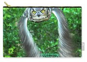 Owll In Flight Carry-all Pouch