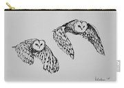 Owls In Flight Carry-all Pouch