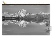 Oxbow Bend Panorama Black And White Carry-all Pouch