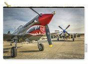 P40 Warhawk And P51d Mustang On The Ramp Carry-all Pouch