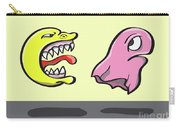 Pac Man And Ghost Illustration Carry-all Pouch