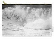 Pacific Ocean Breakers Black And White Carry-all Pouch