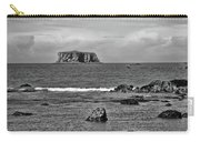 Pacific Ocean Coastal View Black And White Carry-all Pouch