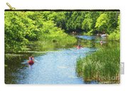 Paddling On A Calm Creek Carry-all Pouch