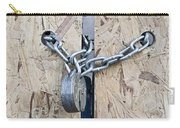 Padlock And Chain Carry-all Pouch