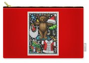 Page 1 Of 2 Teddy Bear Santa Claus Paper Doll Carry-all Pouch