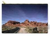 Paint Mixed Valley Of Fire Landscape  Carry-all Pouch