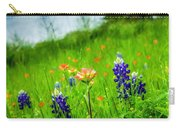 Paintbrush And Bonnets Square Carry-all Pouch