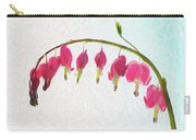 Painted Bleeding Heart Carry-all Pouch