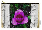 Painted Flower With Peeling Effect Carry-all Pouch