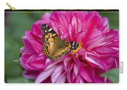 Painted Lady On Dahlia Carry-all Pouch