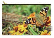 Painted Lady On Zinnia Carry-all Pouch