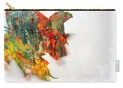 Painted Leaf Abstract 1 Carry-all Pouch