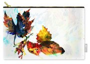 Painted Leaves Abstract 2 Carry-all Pouch