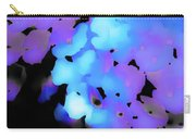 Painted Petals In Blue Purple Carry-all Pouch