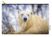 Painted Polar Bear  Carry-all Pouch