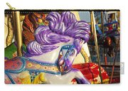 Painted Purple Pony Carry-all Pouch