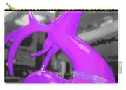 Painted Reindeer Purple Carry-all Pouch
