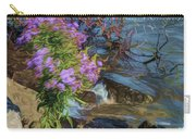 Painted River Flower Carry-all Pouch