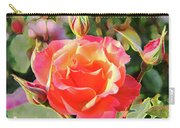 Painted Rose Carry-all Pouch