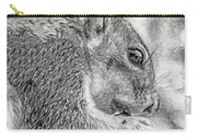 Painted Squirrel Carry-all Pouch
