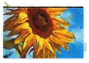 Painted Sunflower Carry-all Pouch