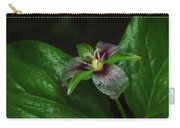 Painted Trillium In The Rain Carry-all Pouch