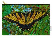 Painted Yellow Swallowtail Carry-all Pouch