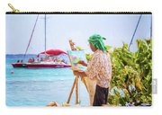 Painter At Work, Holetown Beach, Barbados Carry-all Pouch