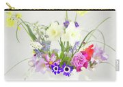 Painterly Homegrown Floral Bouquet Carry-all Pouch
