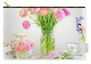Painterly Ranunculus Tea Time Carry-all Pouch